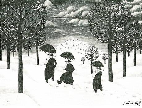 A Winter Scene by Eric de Kolb