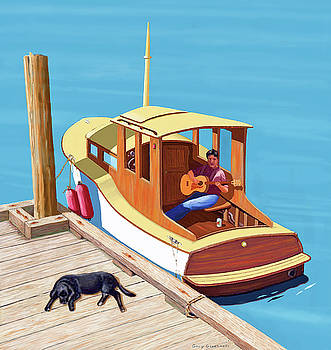 A man, a dog and an old boat by Gary Giacomelli
