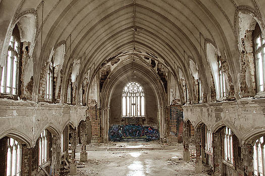 Abandoned Church In Detroit by Andrea Kelley