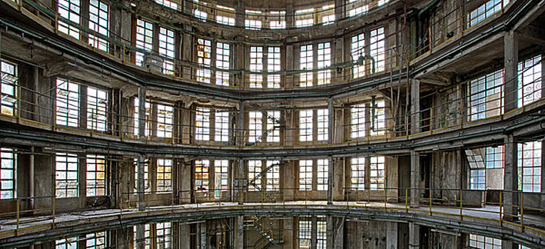 Abandoned Factory Tower - Panorama Industrial Decay by Dirk Ercken