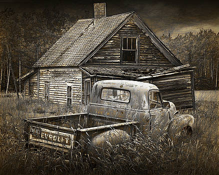 Randall Nyhof - Abandoned Farm House with Chevy Pickup