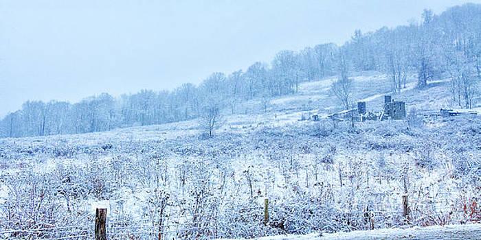 Abandoned Farm Winter Storm by Randy Steele