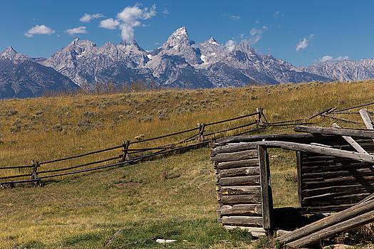 Abandoned Log Cabin Teton National Park WY by Troy Montemayor