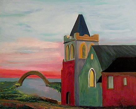Abbey Near The Bridge by Richard Beauregard