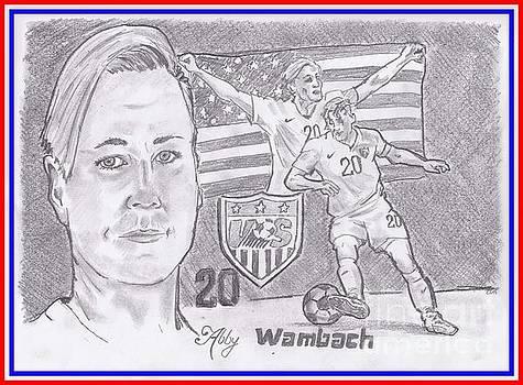 Abby Wambach by Chris DelVecchio