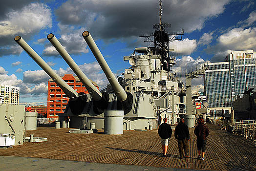 Aboard the USS Wisconsin by James Kirkikis