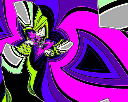 Abstract-27 - Neon Pink by Darrell Foltz