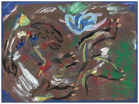Abstract Baboon 2  by Rosemary Mazzulla