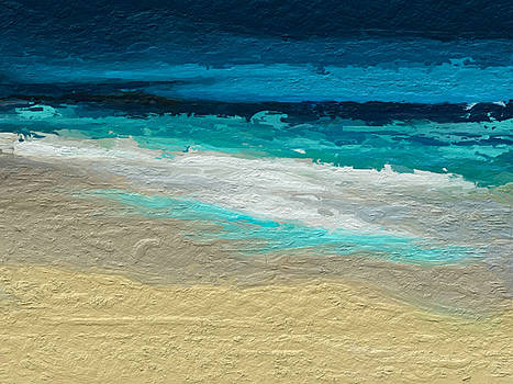 Abstract beach by Anthony Fishburne