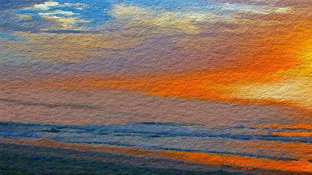 Abstract Beach Sunrise by Anthony Fishburne