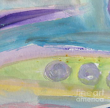 Abstract blue by France Laliberte