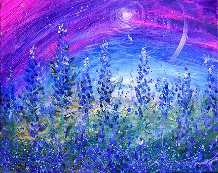 Abstract Bluebonnets by J Vincent Scarpace