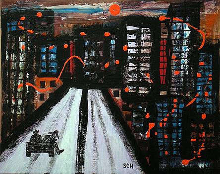 Abstract Cityscape Four -OR- A Cowboy's Lament by Scott Haley