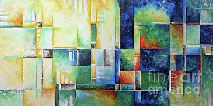 Abstract Colorful Contemporary Art Original Painting A Checkered Life by Megan Duncanson MADART by Megan Duncanson