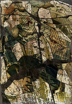 Abstract Composed of Newspaper by Haruo Obana