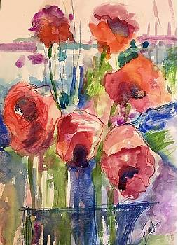 Abstract Flowers by Donna Eaton