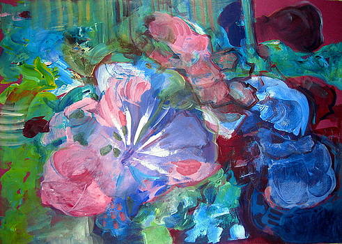Abstract Flowers I by Therese AbouNader