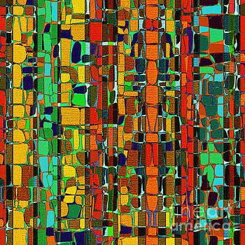 Abstract Geometric Fabric by Klara Acel