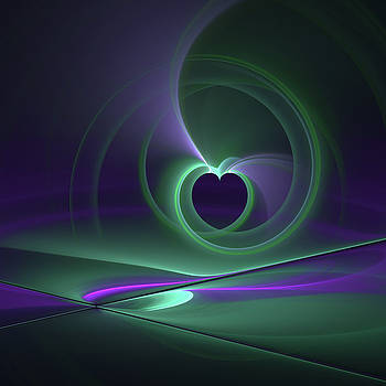Abstract Heart Fractal by Gabiw Art