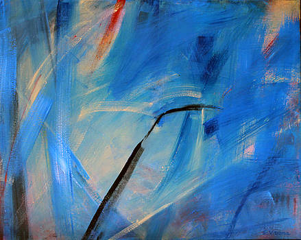 Abstract in Blue by Ethel Vrana