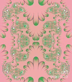 Abstract in Pink and Green by Linda Phelps