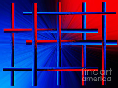 Abstract In Red/blue 3 by Trena Mara