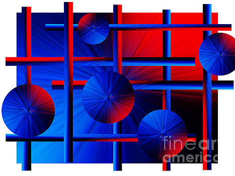 Abstract In Red/blue by Trena Mara
