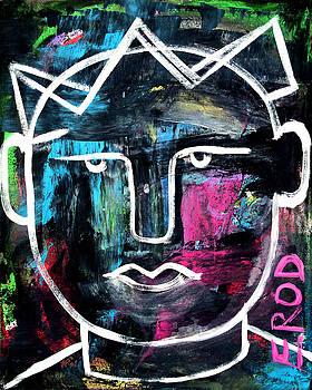 Abstract KING - Original Robert Erod ART by Robert R Splashy Art Abstract Paintings