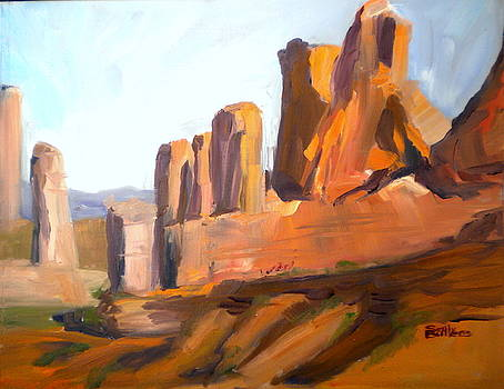 Abstract Utah Landscape by Sally Bullers