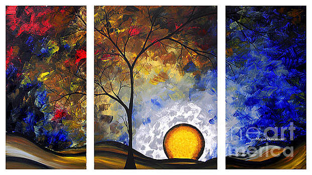 Abstract Landscape Painting Dreams Do Come True Unique Original Modern Art by Megan Duncanson by Megan Duncanson