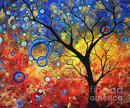 Abstract Landscape Tree Fine Art Prints Renewed Energy by Megan Duncanson by Megan Duncanson