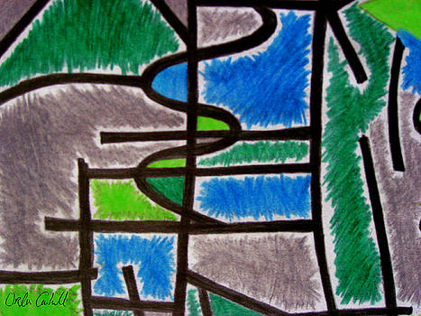 Abstract Leger no.4 by Orla Cahill
