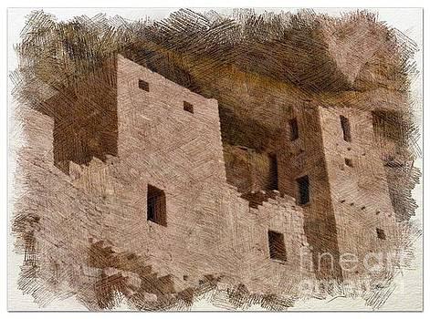 Abstract Mesa Verde by Debby Pueschel