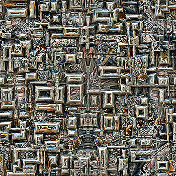 Abstract Metallic Structure by Phil Perkins