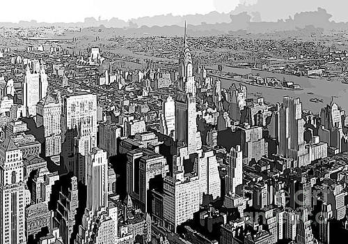 John Malone - Abstract of Downtown Manhattan New York City