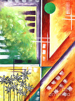 Abstract Original Art Contemporary Colorful Painting by Megan Duncanson Color Explosion III MADART by Megan Duncanson