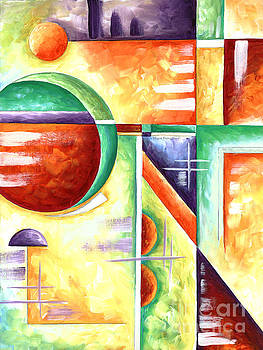 Abstract Original Art Contemporary Colorful Painting by Megan Duncanson Color Explosion IV MADART by Megan Duncanson