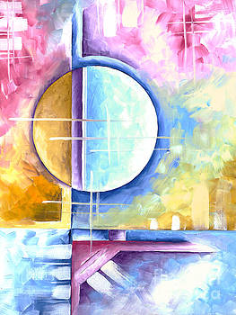 Abstract Original Art Contemporary Colorful Painting by Megan Duncanson Spring Fever I MADART by Megan Duncanson