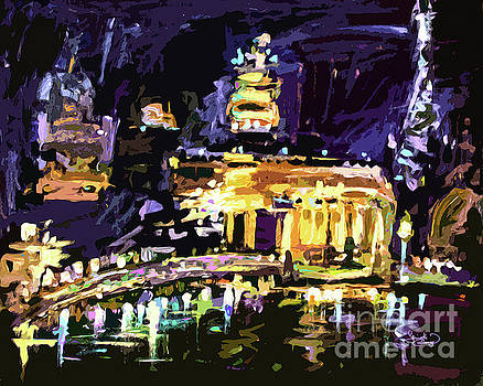 Ginette Callaway - Abstract Paris Night Reflections