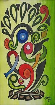 Abstract Peacock by Saran A N