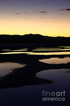 James Brunker - Abstract Pools and Silhouettes on Uyuni Salt Flats