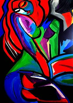 Abstract  Rain Bow Girl by Nora Shepley