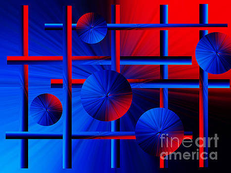 Abstract Red/blue 2 by Trena Mara