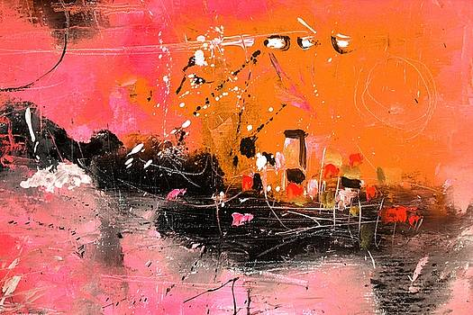 Abstract Sunset by Pol Ledent