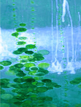 Abstract Symphony In Blue And Green by Vicky Brago-Mitchell