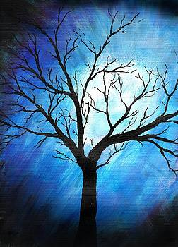Abstract Tree on Blue by Sabrina Zbasnik