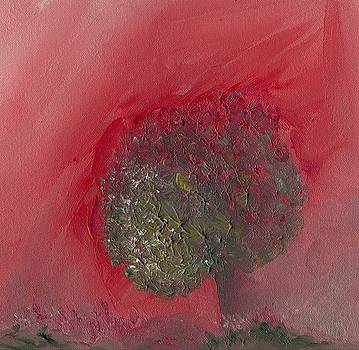 Abstract Tree Pink and Green by Michaela Kraemer