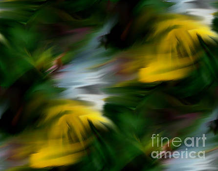 Abstract Yellow White And Green Colors by Smilin Eyes  Treasures