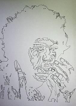 Acid Trip Jimi by Kristen Diefenbach
