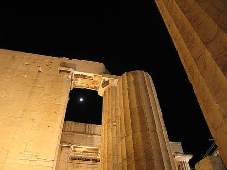 Acropolis Captured Moon 1 by Jelena Ignjatovic